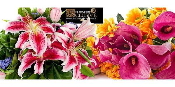 Kytice uvázaná dle oblíbených květin i barev