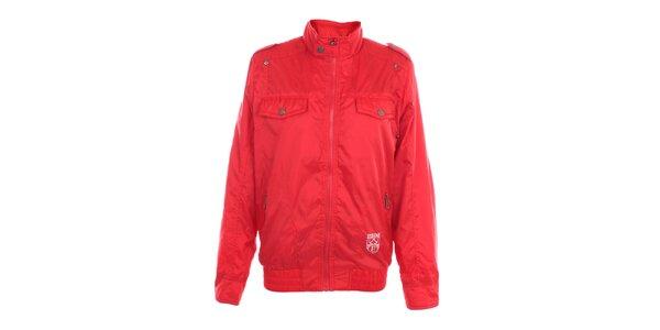 Pánská červená bunda Exe Jeans se stojáčkem