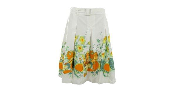 Dámská bílá sukně s citrusy Fever