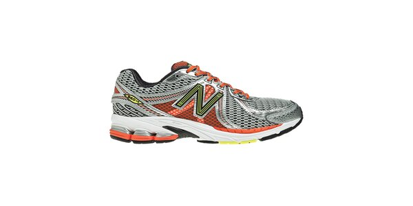 Pánské stříbrno-oranžové tréninkové boty New Balance