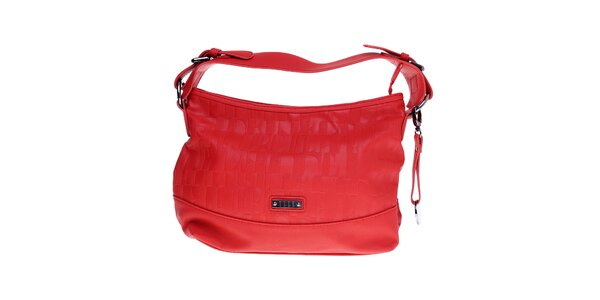 Dámská malá červená hobo kabelka Elle