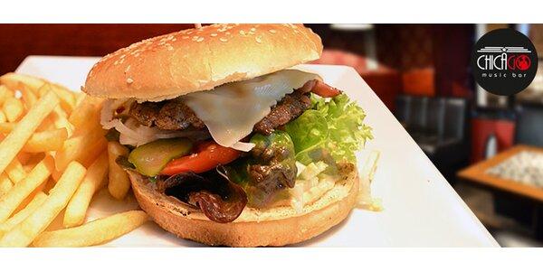 2 burgery + dvoje hranolky v centru Prahy