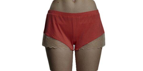 Dámské broskvové nohavičkové kalhotky Les Affaires