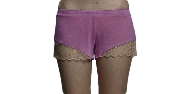 Dámské růžové nohavičkové kalhotky Les Affaires