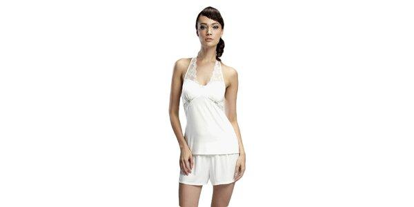 Dámská sněhobílá košilka s krajkou Les Affaires