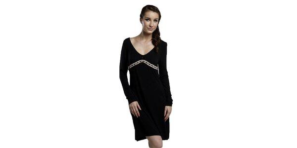 Dámská černá noční košile Les Affaires