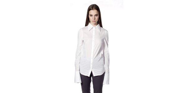 Dámská bílá košile s širokými manžetami Gene