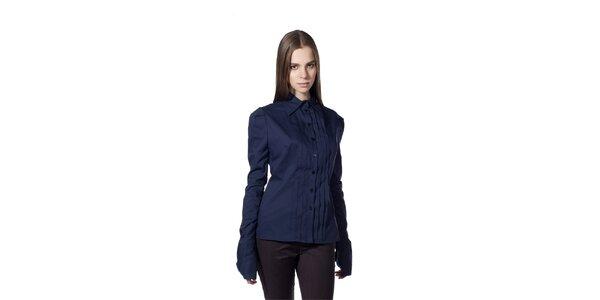 Dámská tmavě modrá košile s plisováním Gene