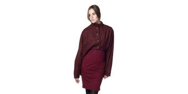 Dámský vínový krátký kabát Gene