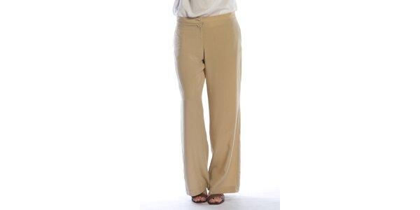 Dámské béžové široké kalhoty Gene