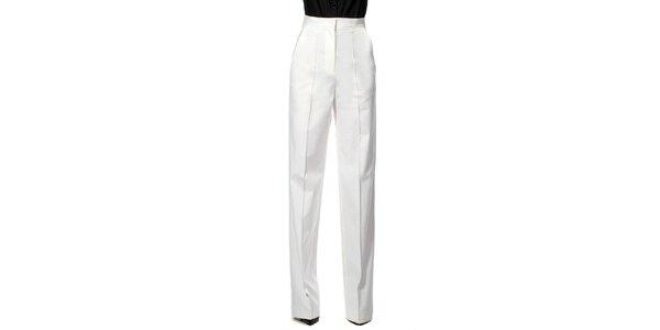 Dámské bílé kalhoty s puky Gene