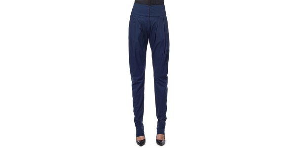 Dámské modré volné kalhoty Gene