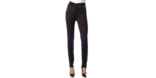 Dámské černé proužkované kalhoty Gene