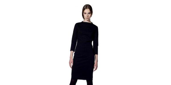 Dámské černé šaty s 3/4 rukávem Gene