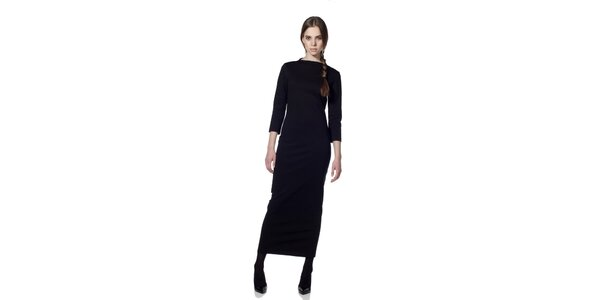 Dámské černé šaty s dlouhým rukávem Gene