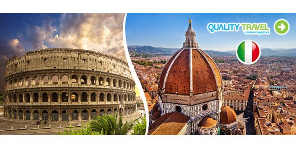 Florencie a Řím s ubytováním a snídaní