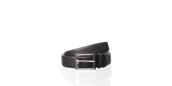 Černý kožený pásek Gianfranco Ferré