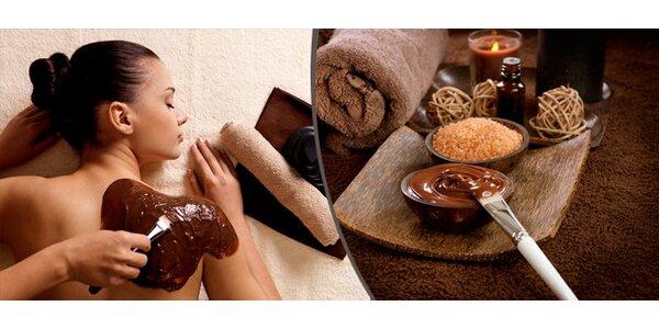 80minutová čokoládová masáž s čokoládovým zábalem