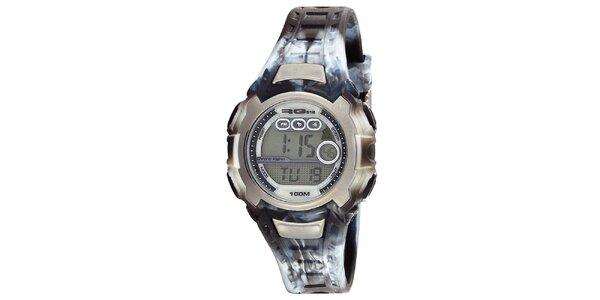 Kulaté digitální hodinky s žíhaným řemínkem RG512