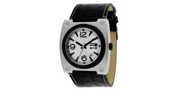 Hranaté hodinky se stříbrným pouzdrem RG512