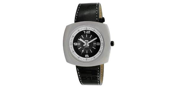 Analogové hodinky s širokým ocelovým pouzdrem RG512