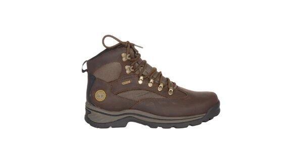 Pánské čokoládově hnědé outdoorové kotníčkové boty Timberland