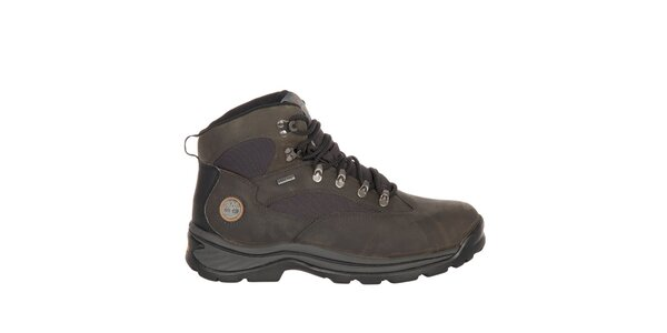 Pánské tmavě hnědé kotníčkové boty Timberland