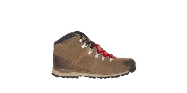 Pánské světle hnědé voděodolné boty Timberland