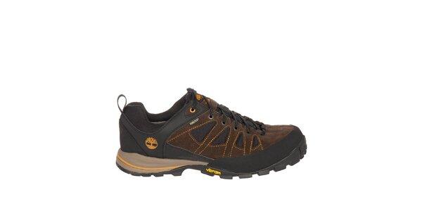 Pánské hnědo-černé nízké trekové boty Timberland