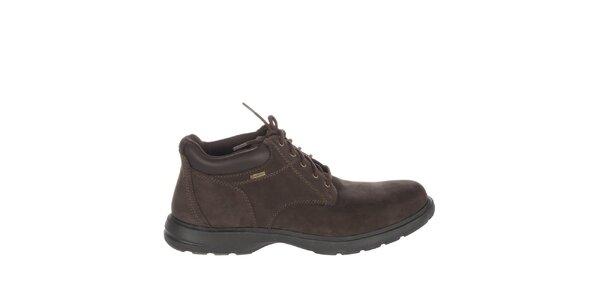 Pánské čokoládově hnědé kotníčkové boty Timberland