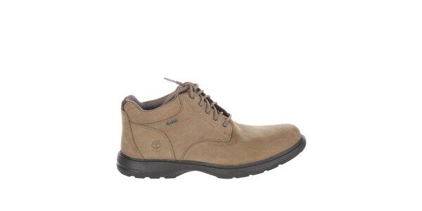 Pánské světle béžové kotníčkové boty šněrovací Timberland