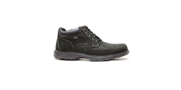 Pánské černé kožené boty Timberland