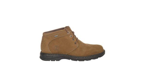 Pánské béžové šněrovací kotníčkové boty Timberland