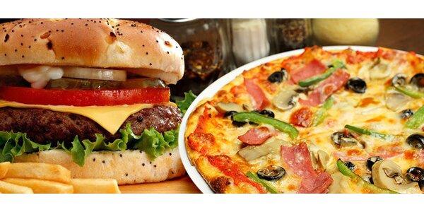 50% sleva na vynikající pizzy i burgery