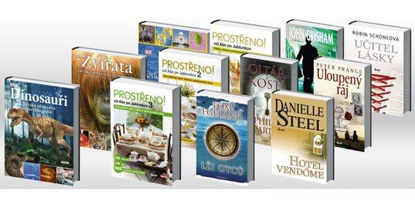 Sady knih pro ženy, pro děti, kuchařky Prostřeno či krimi