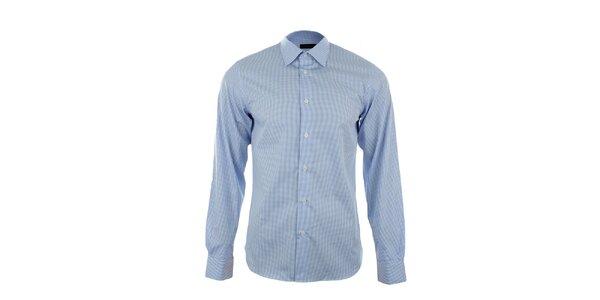 Pánská modrobíle kostkovaná košile Calvin Klein