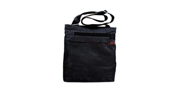 Pánská velká černá taška přes rameno Calvin Klein