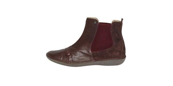 Dámské hnědé kotníčkové boty Buggy