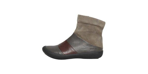 Dámské šedohnědé kotníčkové boty Buggy