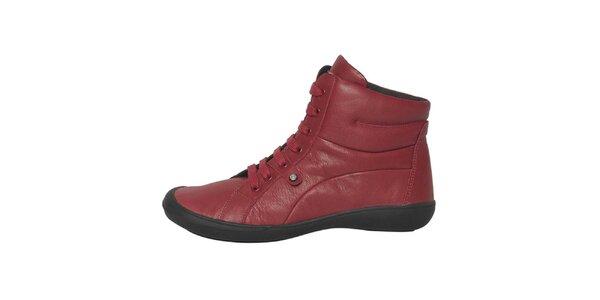 Dámské červené šněrovací boty Buggy