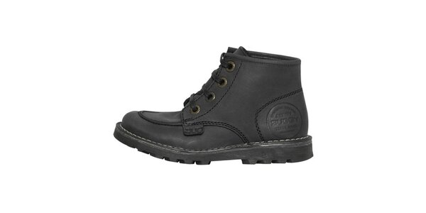Dámské uhlově černé kotníčkové boty Buggy