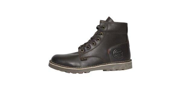 Pánské tmavě hnědé vysoké boty Buggy
