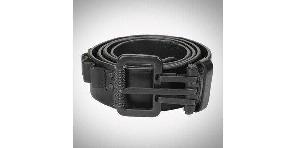 Pánský černý kožený pásek Diesel