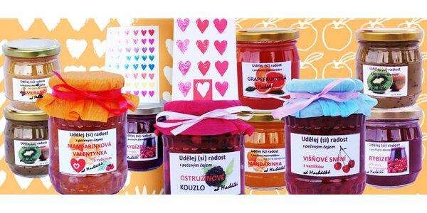 Valentýnské balíčky džemů a čajů od Macháčků