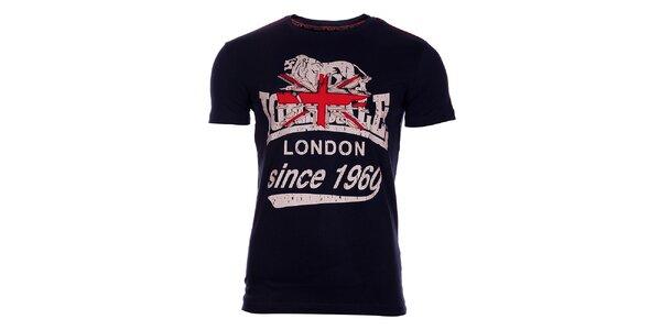 Pánské tmavě modré tričko Lonsdale s potiskem