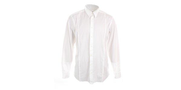 Pánská bílá přiléhavá košile Pietro Filipi