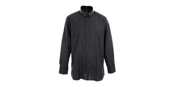 Pánská tmavě šedá obleková košile Pietro Filipi