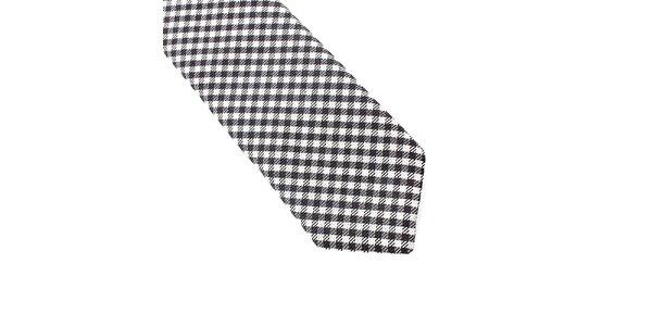 Pánská černobíle kostkovaná kravata Pietro Filipi