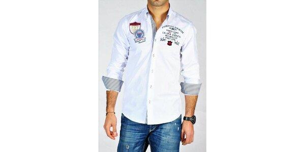 Pánská bílá sportovní městská košile Pontto