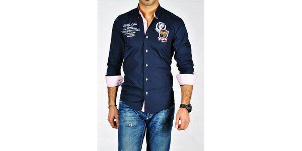 Pánská tmavomodrá košile Pontto